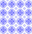 Seamless pattern in the style of Dutch tiles vector image