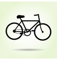 Bicycle icon Male bike Sport symbol Black vector image