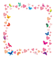 hearts and butterflies vector image vector image