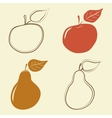 Apple and pears icons - vector image