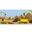 Construction Earthworks Quarry Background vector image