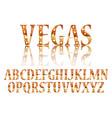 realistic lamps alphabet vector image