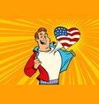 sports fan loves usa vector image