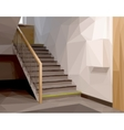 Stairs in Office or Entrance vector image