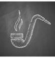 tobacco pipe icon vector image