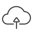upload to cloud line icon web and mobile vector image
