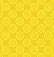 Yellow lemon slices seamless pattern vector image