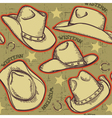 cowboy hats seamless pattern for western vector image
