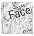 face painting Word Cloud Concept vector image