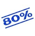 80 Percent Watermark Stamp vector image