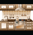 kitchen furniture vector image