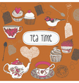 I love tea vector image