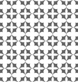 Seamless monochrome stylized flowers pattern vector image vector image