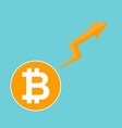 bitcoin symbol cryptocurrency market trend on vector image