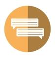 bubbles speech dialog speak text shadow vector image