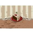 cake piece vector image