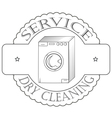 cervice dry cleaning vector image