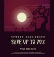 collection halloween poster dark design vector image