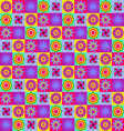 geometric flowers collection vector image