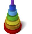 layered pyramid vector image