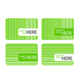 Modern Business Cards with Green Stripes vector image