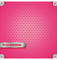 Pink metal texture with heart vector image
