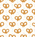 Pretzels pattern vector image
