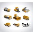 trucks isometrics design vector image