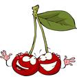 fun cherry vector image vector image