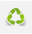 realistic design element recycle sign vector image