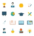 Education icons flat vector image