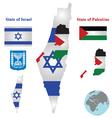 Israel Map Flag vector image vector image