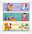 Baby Nutrition Banner Set vector image