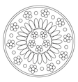 Coloring Simple Chamomile Mandala vector image