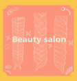 beauty salon hairstyle salon made vector image