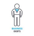 business debts concept outline icon linear sign vector image