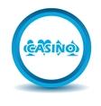 Casino icon blue 3D vector image
