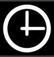 clock white color icon vector image