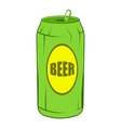 Green beer can icon cartoon style vector image