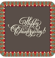 Happy Thanksgiving handwritten lettering vector image