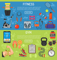 healthy lifestyle horizontal banners vector image