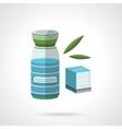 Healthy nutrition flat color icon vector image