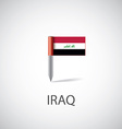 Iraq flag pin vector image