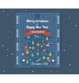 Merry Christmas greeting card design Flyer vector image