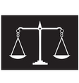 scales of justice Black vector image