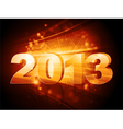 2013 new year star burst vector image vector image