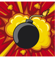 old bomb starting to explode vector image vector image