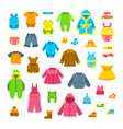 baby clothes flat set vector image