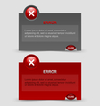 Error notification windows vector image vector image