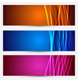 Colorful abstract cards collection vector image vector image